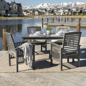 Gray Wash 32-Inch Five-Piece Simple Outdoor Dining Set