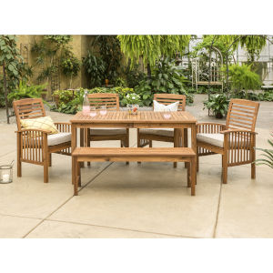 Brown Patio Dining Set, 6 Piece