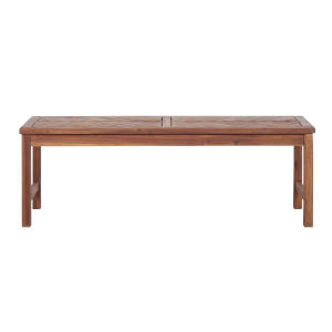 Brown 53-Inch Patio Dining Bench