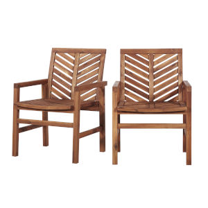 Brown Patio Chairs, Set of 2