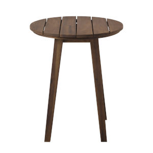 Dark Brown Outdoor Round Side Table