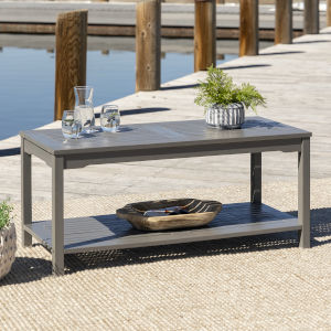Gray Wash 20-Inch Outdoor Coffee Table