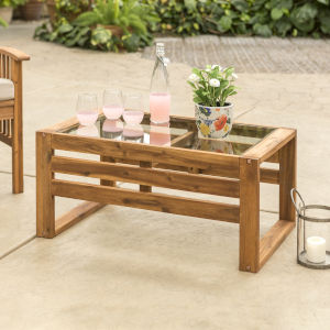 Brown Patio Coffee Table