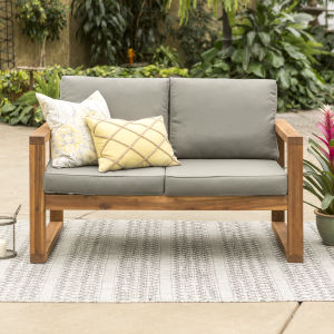 Brown Patio Loveseat