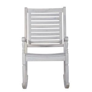White Wash Patio Rocking Chair