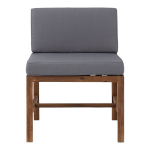 Sanibel Brown and Gray Outdoor Armless Chair