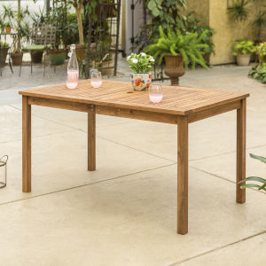 Brown Patio Dining Table