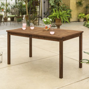 Dark Brown Patio Dining Table
