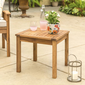 Brown Patio Side Table