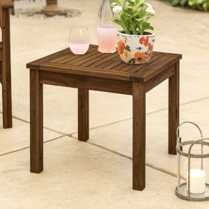 Dark Brown Patio Side Table