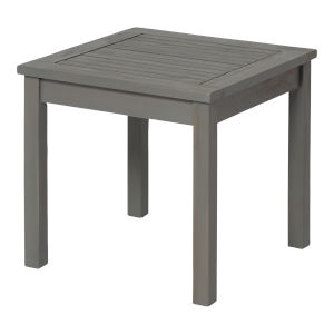 Gray Wash 20-Inch Simple Outdoor Dining Table