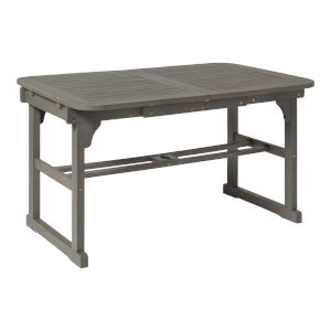 Gray Wash 35-Inch Extendable Outdoor Dining Table