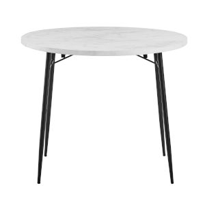 Jacob Faux White Dining Table