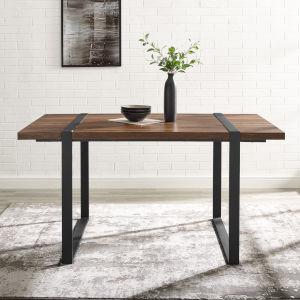 Urban Blend Dark Walnut and Black Dining Table