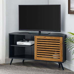 Bowie Barnwood and Solid Black TV Stand