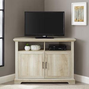 Columbus White Oak Grooved Door TV Stand