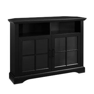 Columbus Solid Black TV Stand
