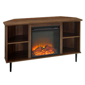 Clyde Dark Walnut Fireplace Console
