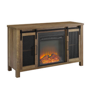 Rustic Oak  48-Inch Fireplace TV Stand