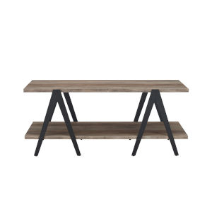 Kalid Grey Wash Two Tier A-Leg TV Stand