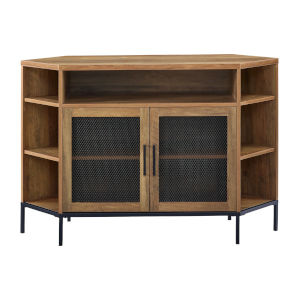 Barnwood TV Console with Mesh Door