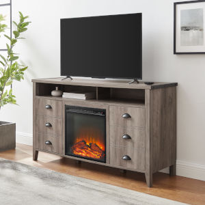 Clair Grey Wash Fireplace TV Stand