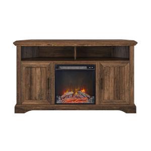 Columbus Reclaimed Barnwood Fireplace Corner TV Stand
