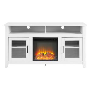 Wasatch Brushed White Fireplace TV Stand