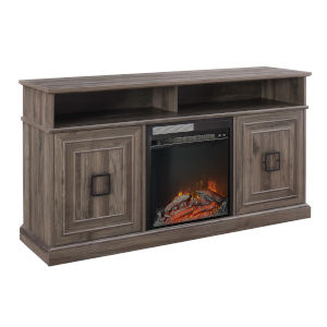 Emilene Slate Grey Fireplace TV Stand