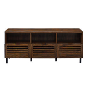 Jackson Dark Walnut Slat Door TV Stand