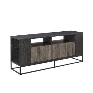Oscar Slate Grey and Graphite Three Door TV Stand