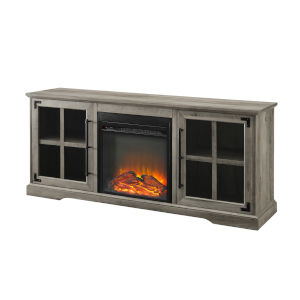 Abigail Gray Fireplace Console with Two Door
