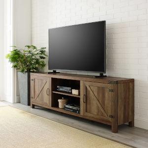 Rustic Oak TV Stand