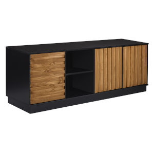 Caramel and Black TV Stand