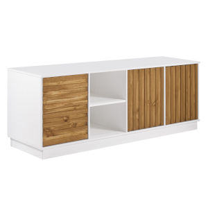 Caramel and White TV Stand