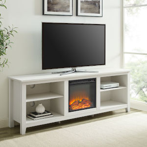 Simple Brushed white TV Cabinet
