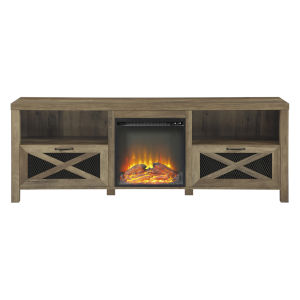 Abilene Barnwood Fireplace TV Stand