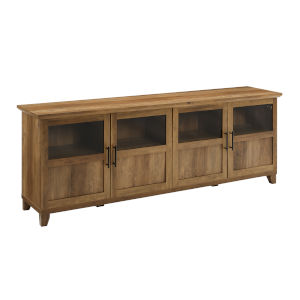 Goodwin Barnwood TV Console with Four Panel Door