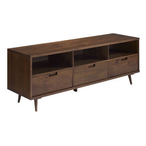 Ivy Walnut Three-Drawer TV Cabinet