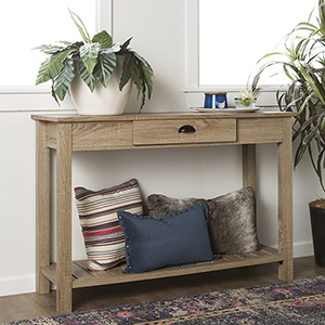 48-Inch Country Style Entry Console Table - Natural