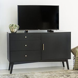Angelo HOME 52-Inch Mid-Century TV Console - Black