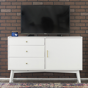 Angelo HOME 52-Inch Mid-Century TV Console - White