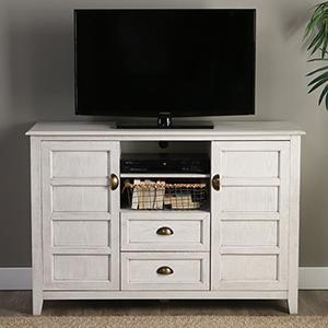 Angelo HOME 52-Inch Rustic Chic TV Console - White Wash