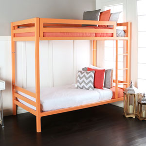 Bentley Twin over Twin Metal Bunk - Coral