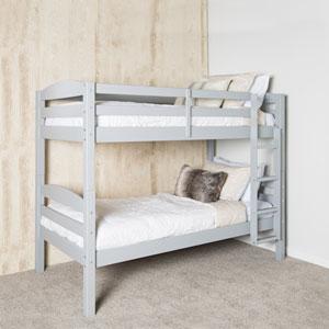 Solid Wood Bunk Bed - Grey