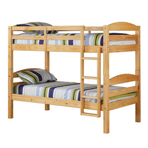 Natural Twin Solid Wood Bunk Bed