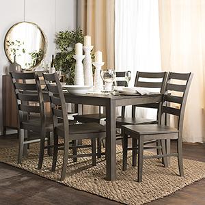 Angelo HOMEstead 7 Piece Wood Dining Set - Aged Grey
