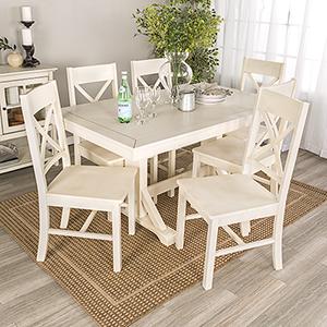 Millwright 7 Piece Wood Dining Set - Antique White