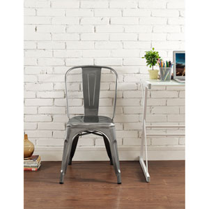 Silver Cafe Chair