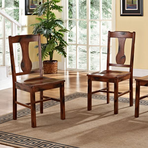 Dark Oak Huntsman Dining Chair, Set of 2
